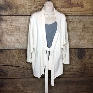 NSF Womens Small Open Front Cardigan Style Tie